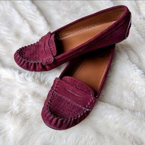 Maroon SM New York Loafers Size 8.5